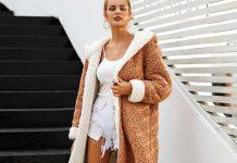porter des manteau fausse fourrure